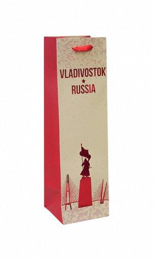 """Пакет под бутылку """"Владивосток"""" 36х10,5х10,5см BK053 ВЭД"""