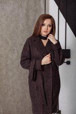 Пальто 20990  (темный меланж)