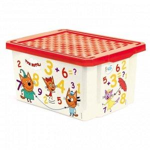 """Ящик для хранения """"Три кота"""" """"Считай"""" 17л LA1425"""