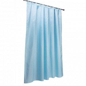 Штора для ванной голубая 180х180см 001-F