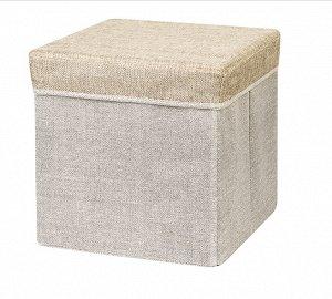"""Пуфик с ящиком для хранения """"Лен"""" 30х30х30см, цв.золотой 680138"""