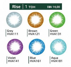 Перекрывающие цветные контактные линзы HERA RISE Aqua -6.5 ВС 8.6 (2 линзы)