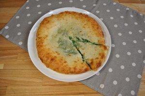 С сыром и шпинатом