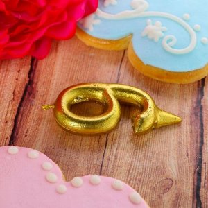 """Свеча в торт цифра """"9"""" золото"""