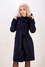Пальто женское демисезонное 18910  (темно-синий)