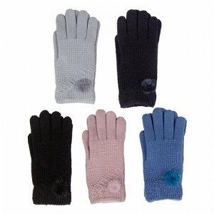 Перчатки трикотажные женские