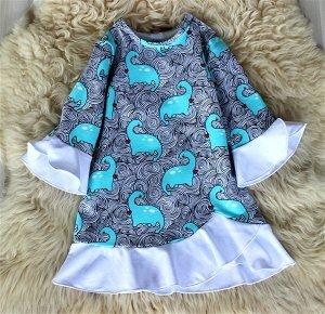 ПЛ56-Ф Платье детское «Дино»
