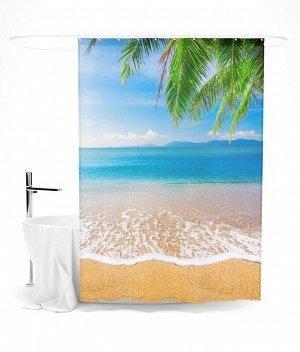 """Шторка для ванной """"Beautiful sea"""""""