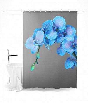 """Шторка для ванной """"Голубая орхидея"""""""