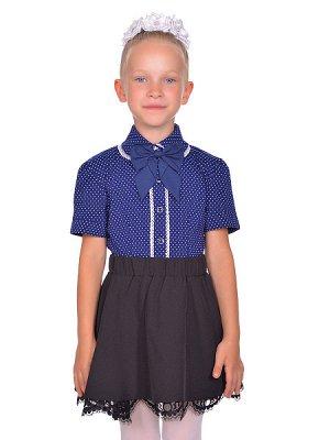 Блуза - темно-синий цвет