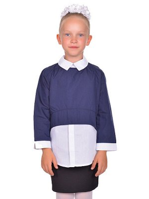 Блуза - белый, синий цвет