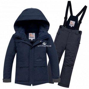 Зимний костюм темно-синего цвета на мальчика.