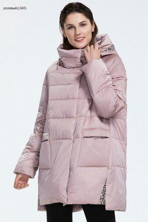 Зимний женский пуховик с капюшоном, цвет розовый