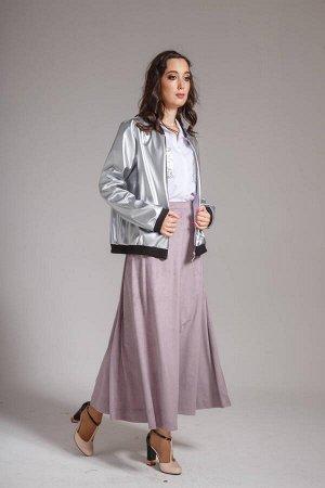 Куртка Куртка AMORI  2059  Состав ткани: ПЭ-100%;  Бомбер из кожи-металик с чёрной отделкой на подкладке. Длина на рост 164-58 см, 170-62 см, длина рукава на рост 164-58 см, 170-62 см.  Рост 164, 170