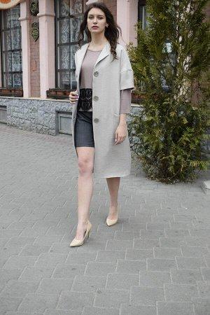 Пальто Пальто AMORI  2082 серое  Состав ткани: Вискоза-36%; ПЭ-64%;  Летнее натуральное пальто на светлой подкладке. Длина изделия на рост 164-104 см, на рост 170-110 см.  Подходит на рост 164-170 см