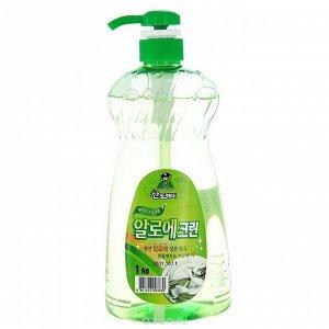 Средство для мытья посуды Sandokkaebi Aloe Clean, флакон-дозатор, 1 кг