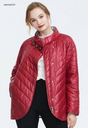 Демисезонная женская куртка, цвет красный