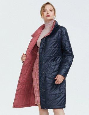 Пальто женское демисезонное, цвет синий
