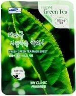 3W Clinic Маска-салфетка 23гр с экстратом зеленого чая (Green Tea) /100/600 /