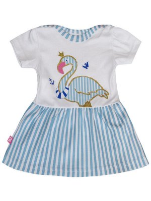 """73503 Платье """"Фламинго"""" для новорождённой"""