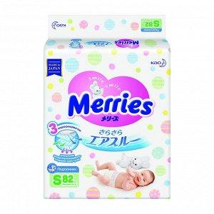 Подгузники Merries S 82 шт, от 4 до 8 кг