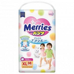 Подгузники-трусики Merries XL 38 шт, 12-22 кг