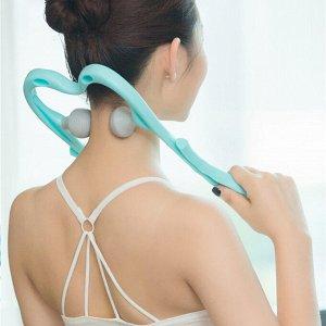Массажер Массажер для шеи на шею, плечи, поясницу на нижнюю ногу шейный массажер двойной триггер точка терапевта руки устройство для релаксации