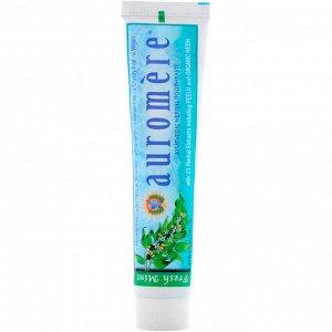Auromere, Аюрведическая зубная паста на травах, свежая мята, 117 г (4,16 унции)