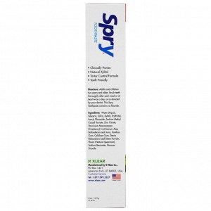 Xlear, Зубная паста Spry, предупреждение образования налета и зубного камня, без фтора, натуральная зеленая мята, 5 унций (141 г)