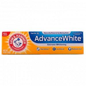 Arm & Hammer, Advance White, высокоэффективная отбеливающая зубная паста, чистый аромат мяты, 4,3 унции (121 г)