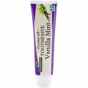 Nature&#x27 - s Answer, Зубная паста с эфирными маслами, ванильно-мятная, 8 унций