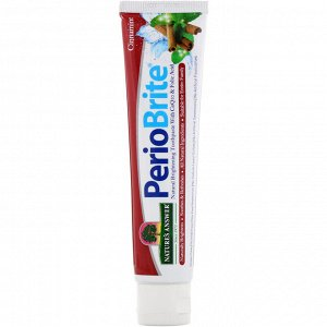 Nature&#x27 - s Answer, PerioBrite, Natural Brightening Toothpaste with CoQ10 & Folic Acid, Cinnamint, 4 oz (113.4 g)