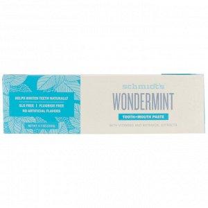 Schmidt&#x27 - s, Tooth + Mouth Paste, Wondermint, 4.7 oz (133 g)