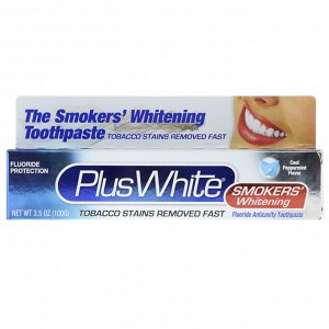 Plus White, The Smokers&#x27 -  Whitening Toothpaste, Cool Peppermint Flavor, 3.5 oz (100 g)