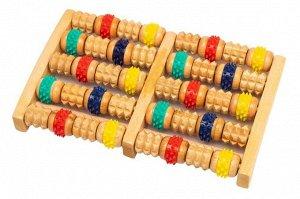 Массажер Массажер из дерева Bradex с резиновыми роликами разного цвета – это экологический массажер для стоп ног и других частей тела. Данный массажер оказывает акупунктурное воздействие на область пр