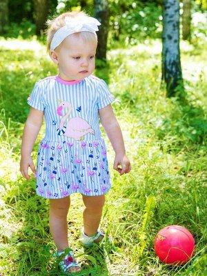 """73403 Платье """"Фламинго"""" для новорождённой"""