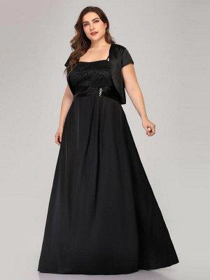 Вечернее длинное черное платье с болеро