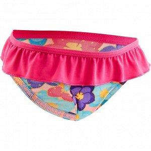 Плавки купальника для малышек с принтом розовые NABAIJI
