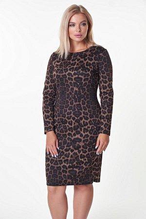 Платье Барбара №38 .Цвет:темный леопард
