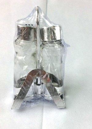 Емкости для специй (2шт+салфетница) на подставке, стекло 1/72