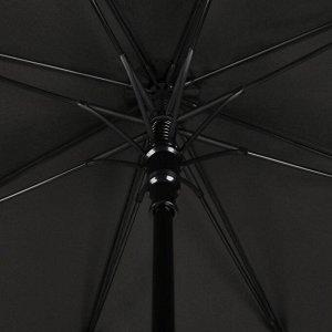 Зонт - трость полуавтоматический «Однотонный», 8 спиц, R = 56 см, цвет чёрный, 1930