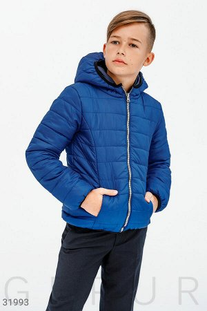 Стеганая двойная куртка