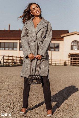 Пальто-oversize серого цвета