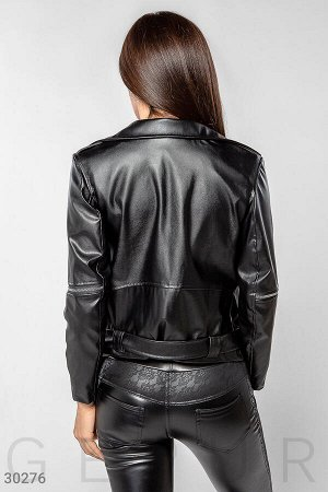 Женская кожаная куртка-косуха