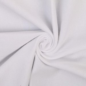 "Ткань ""Кулирная гладь"" плотная 50х45 см + 1 см (белый)"