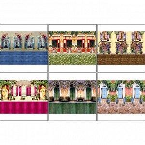 Набор декупажных карт 6 шт «Чайные домики 3»