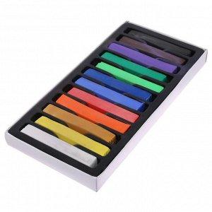 Пастель художественная профессиональная сухая, 12 цветов, в картонной коробке