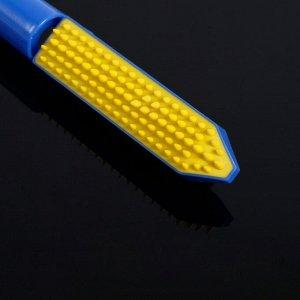 Ролик для чистки одежды, складной с щёткой 12?3?4 см, силикон