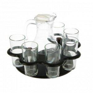 Мини-бар 7 предметов кувшин + стаканы Гладье 1100/200 мл