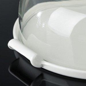 Тортовница «Эстет», 26,5?23,4?27,5 см, с крышкой, на керамической подставке